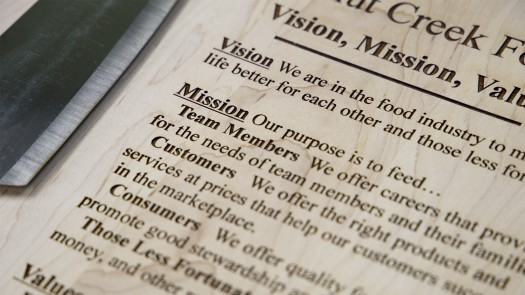 Walnut Creek Foods Vision, Mission, and Values