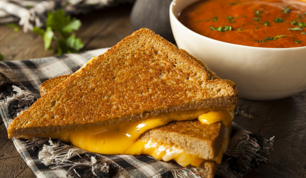 Homemade Grilled Cheese Made With Walnut Creek Cheddar Cheese